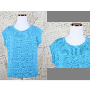Vtg 80s Phildar Knit Metallic Shimmer Sweater